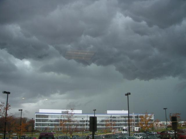 Scary clouds over AOL CC2 building