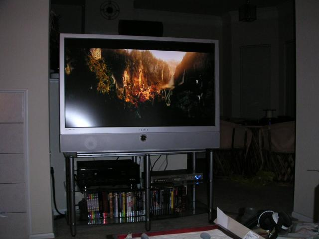 "My new Samsung 50"" DLP HDTV Monitor, Yamaha 5650 Dolby 6.1 Receiver, and Samsung HD-931 DVD Player with DVI to the Monitor"
